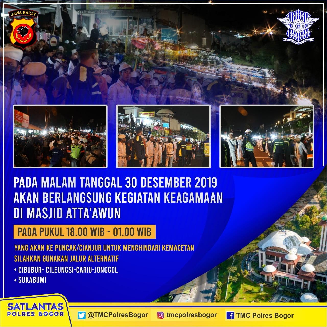 Puncak Berdzikir, Polres Bogor Antisipasi Lalulintas 233