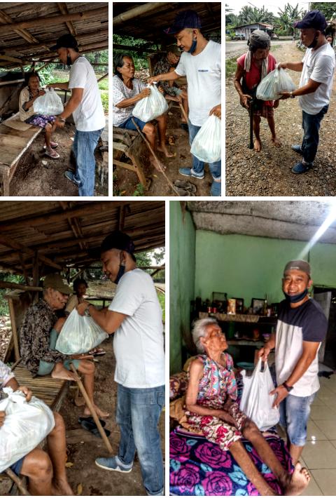 Penerima Bantuan Bahagia Saat Karang Taruna Desa Cileungsi Bagikan Paket Sembako 239
