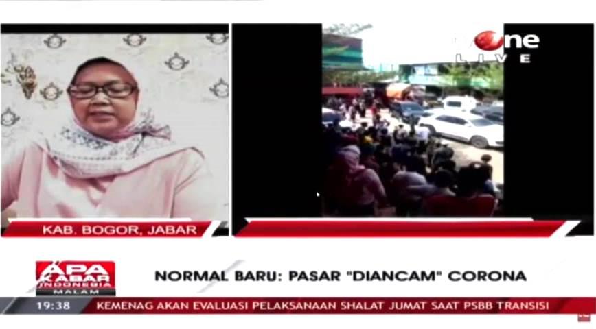 """New Normal : Pasar """"Diancam"""" Corona 233"""