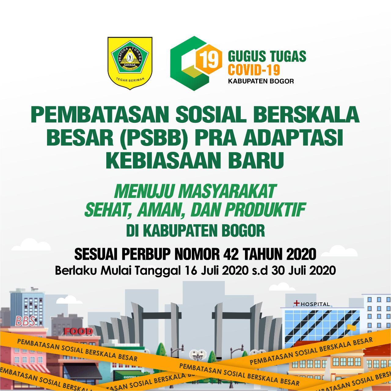 Kabupaten Bogor Terapkan PSBB Pra Adaptasi Kebiasaan Baru 231