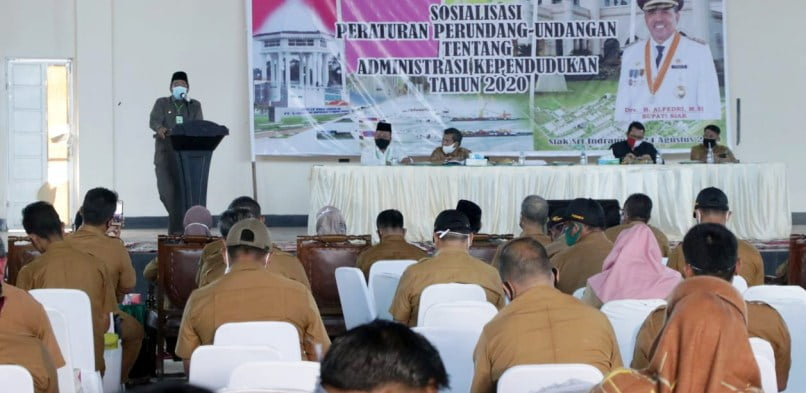 Bupati Siak Buka Sosialisasi Peraturan Perundang-Undangan Administrasi Kependudukan Tahun 2020