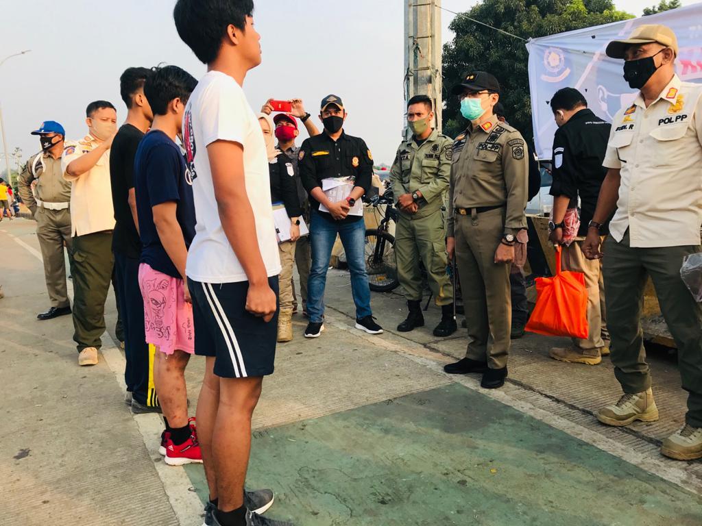 Satpol PP Kabupaten Bogor Giat PSBB di Stadion Pakansari 229