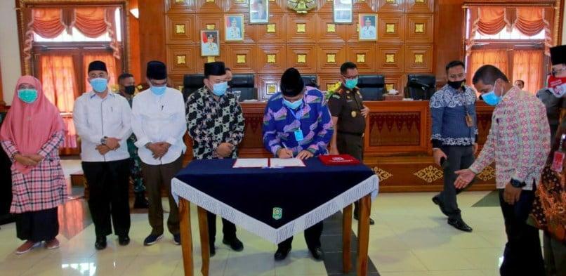 Bupati Siak Alfedri Pimpin Rapat Koordinasi Penegakan Hukum Protokol Kesehatan di Kabupaten Siak Tahun 2020