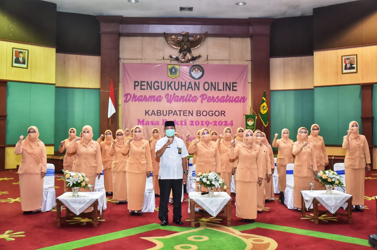 Pengurus DWP Kabupaten Bogor 2019-2024 Resmi Dilantik