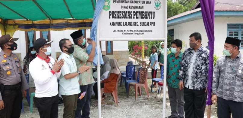 Resmikan Pustu Kampung Lalang, Bupati Alfedri: Kesehatan Adalah Salah Satu Pilar Pembangunan.
