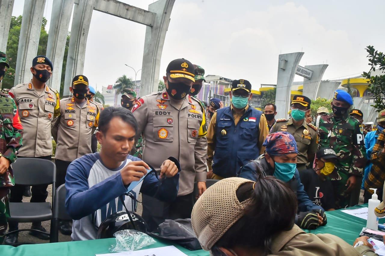 Wakapolda Jabar Tinjau Pelaksanaan Operasi Yustisi di Kabupaten Bogor 233
