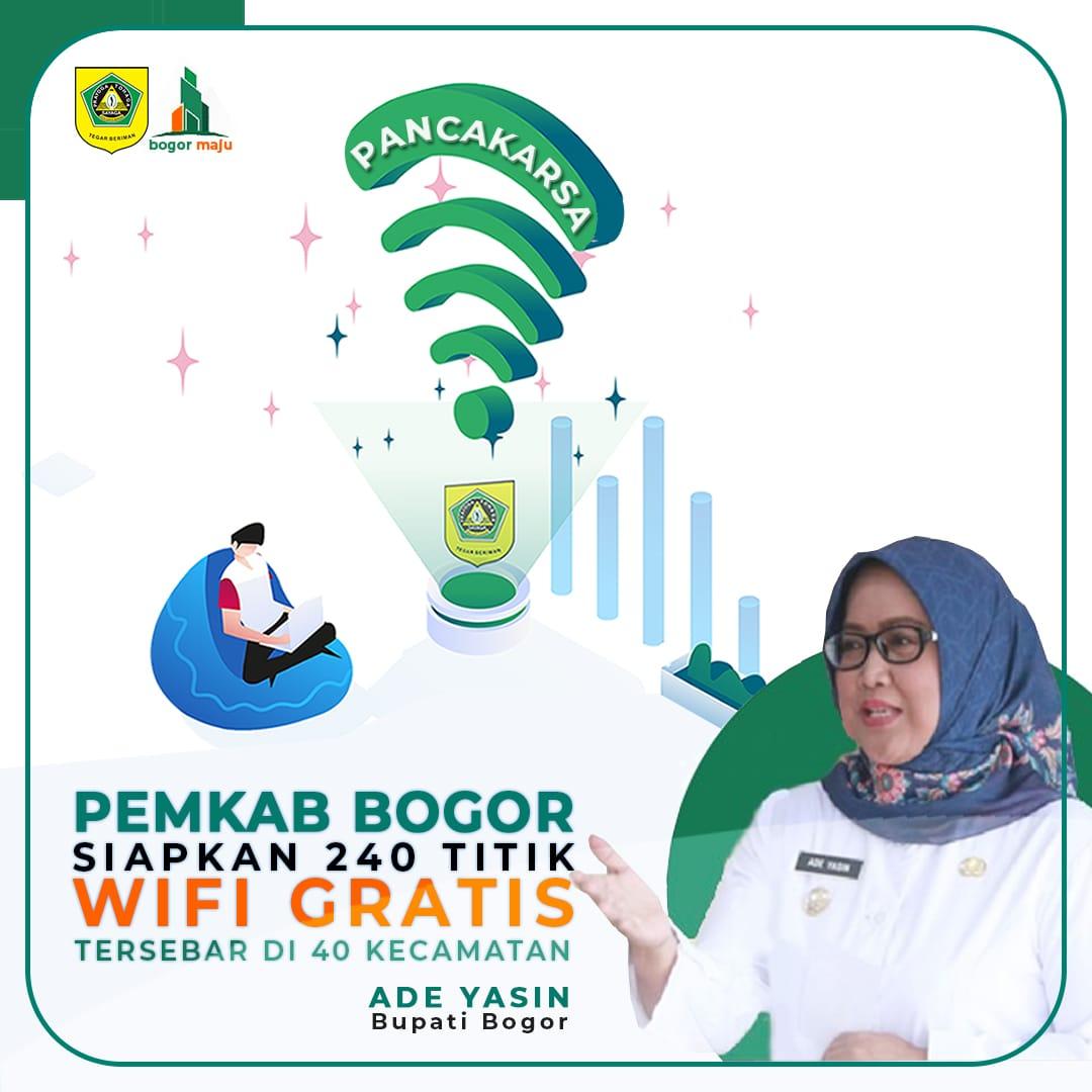 Bupati Bogor Janjikan 240 Titik WIFI Gratis . 233