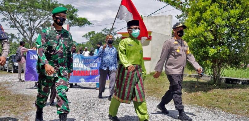 Cegah Anarkisme, Sekda Kabupaten Siak Pimpin Deklarasi Cinta Damai
