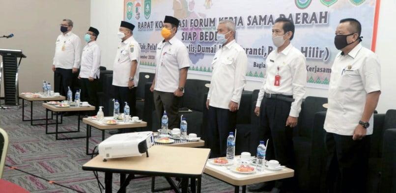 Hadir Rakor SIAP BEDELAU Sekda Arfan Usman Membangun Daerah dibutuhkan Sinergitas Antar Daerah