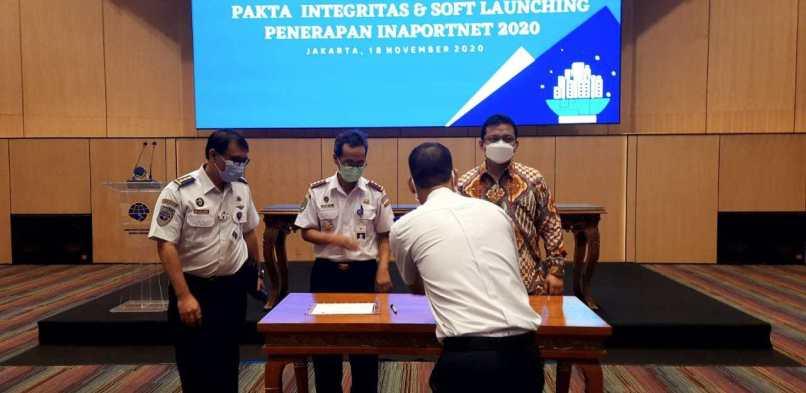 Penandatanganan Pakta Integritas dan Soft Launching Inapornet tahun 2020