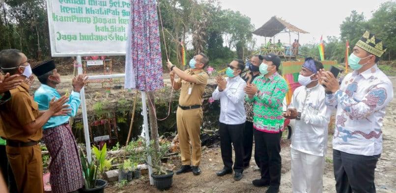 Peresmian Obyek Wisata Hijau Sei Penampo Kecik Khalifah Sulaiman Dusun Pusako Siak