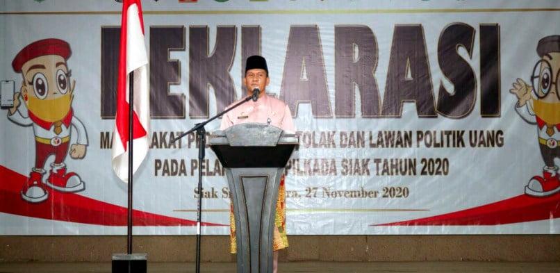 Pjs Bupati Indra Agus Lukman, ajak seluruh komponen masyarakat tolak Politik Uang