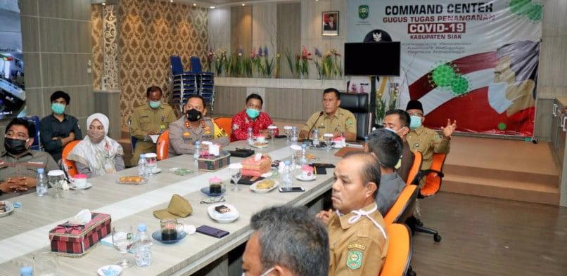 Pjs Bupati Siak Sampaikan Kesiapan Penyelenggaraan Pilkada Siak 9 Desember Mendatang, Kepada Wagubri Melalui Vitcon