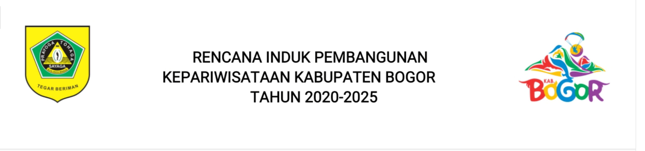 Rencana Induk Pembangunan Kepariwisataan Kabupaten Bogor Tahun 2020-2025 231
