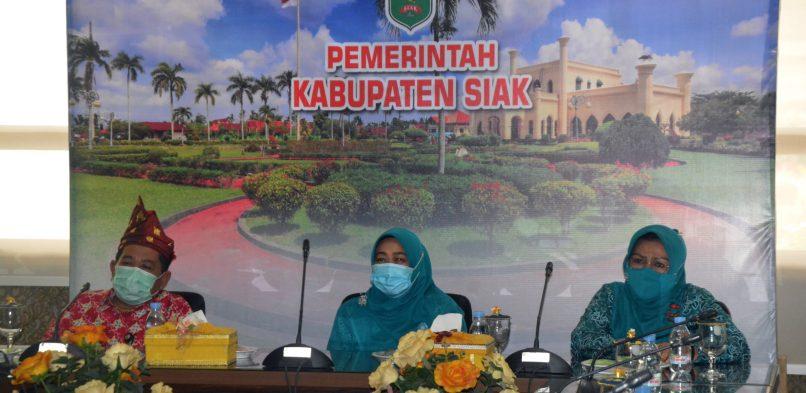 TP-PKK Kabupaten Siak Ikuti Webinar Peningkatan Kesejahteraan Perempuan Dalam Rangka Hari Ibu