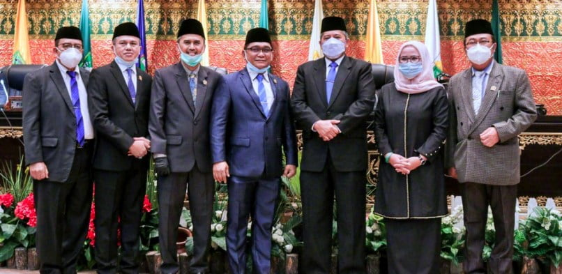 Bupati Alfedri Hadiri PAW Anggota DPRD Provinsi Riau