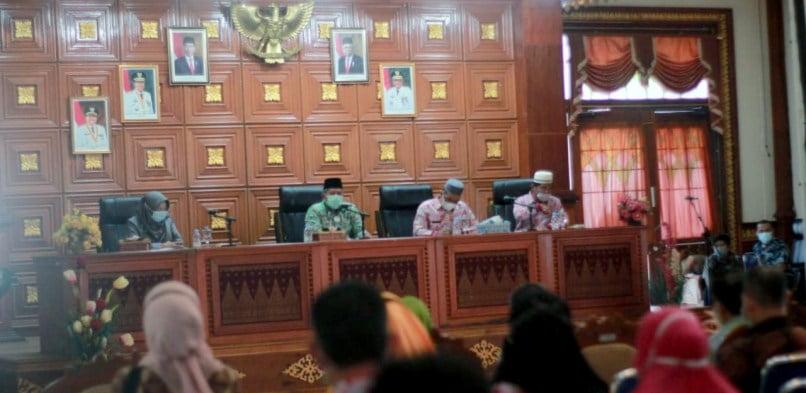 Bupati Siak Alfedri Pimpin Rapat Percepatan Penyusunan Laporan Keuangan Daerah Kabupaten Siak T.A 2020