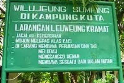 Kemurnian Hutan Larangan Menjadi Tanggung Jawab Generasi 231