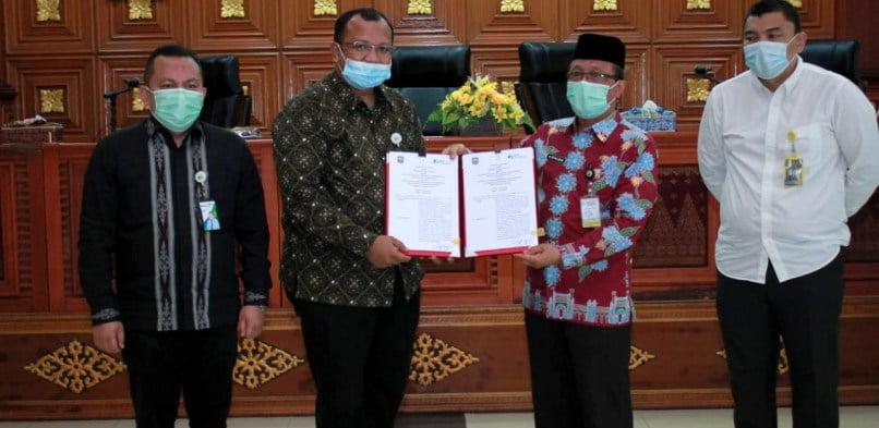 Pemkab Siak – BPJS Ketenagakerjaan teken Nota Kesepakatan lanjutkan kerjasama.