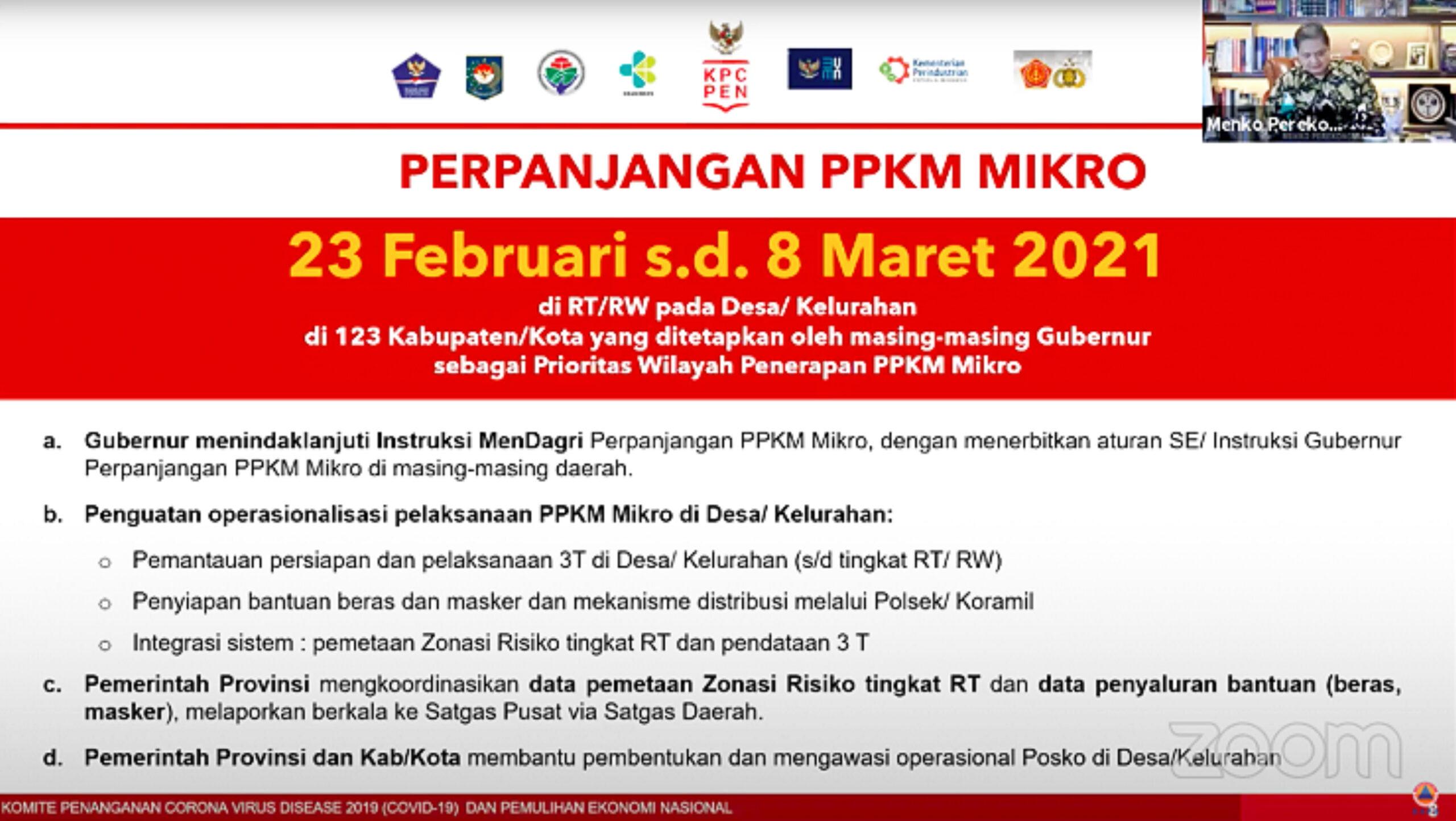 PPKM Berskala Mikro Jawa dan Bali Diperpanjang Hingga 8 Maret 2021 233