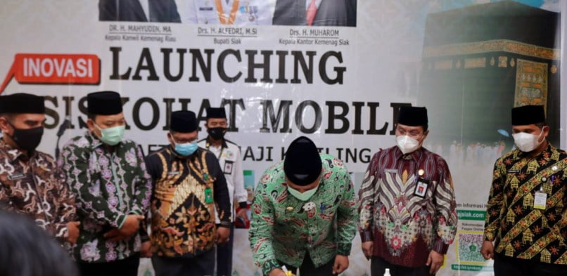 Siskohat Siak Diluncurkan, Kini Mendaftar Haji Semakin Mudah