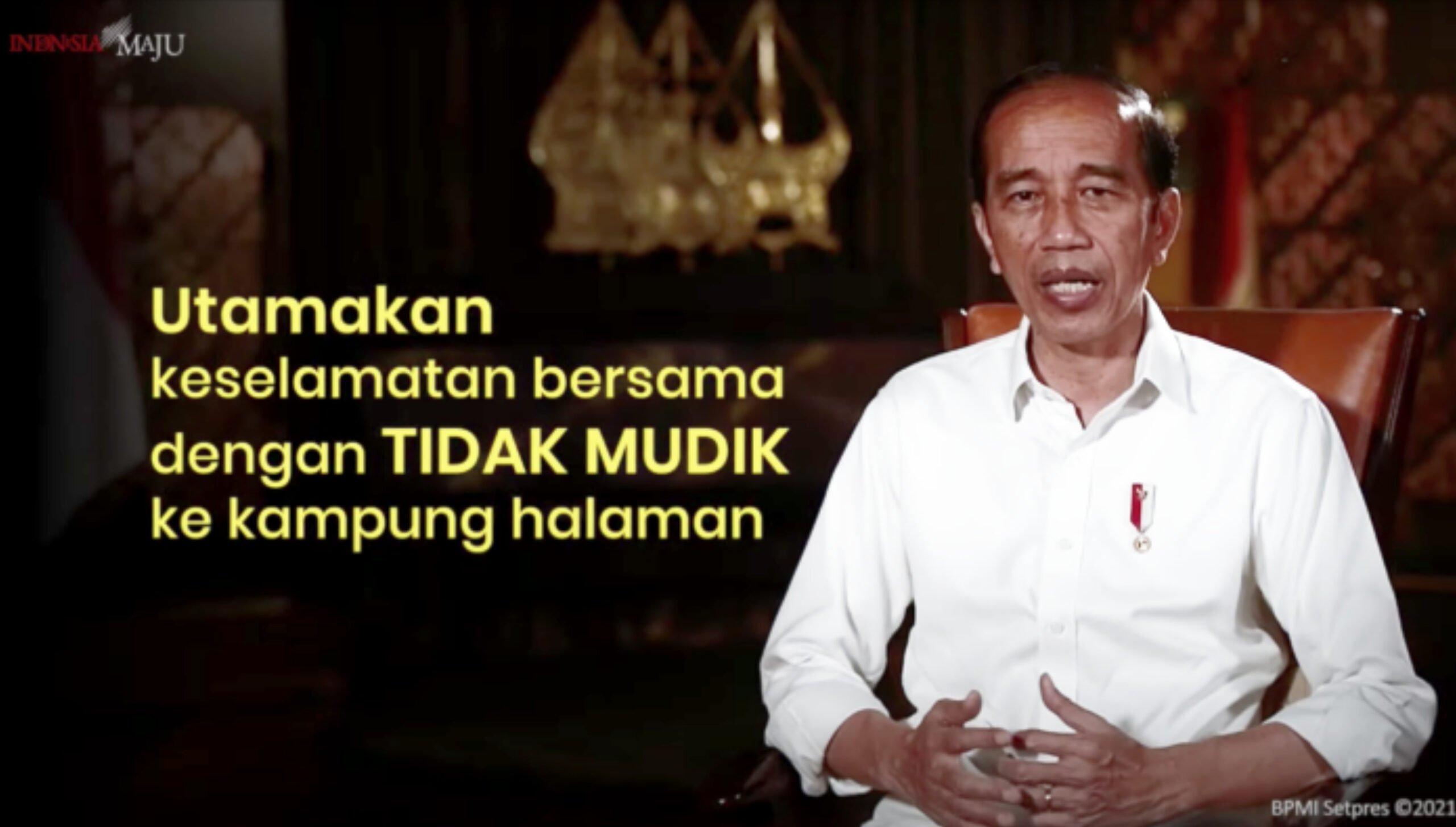 Presiden Jokowi Minta Utamakan Keselamatan Bersama Dengan Tidak Mudik 235